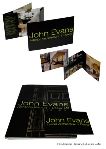 Brochure and Leaflet for John Evans Interiors